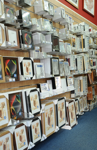Full range of off the shelf frames at Aldershot Photography