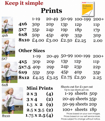 Photographic Prints from your digital media by Farnborough Photo