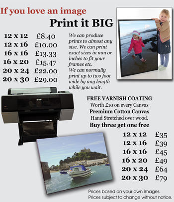 Poster prints and canvases from your digal media by Aldershot Photography