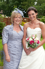 Wedding photography bride and mum